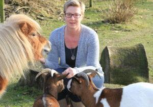 foto met vip en geiten